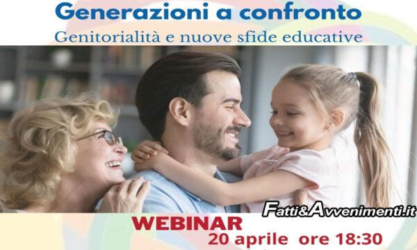 """Agrigento. Domani il Webinar """"Generazioni a confronto. Genitorialità e nuove sfide educative"""""""