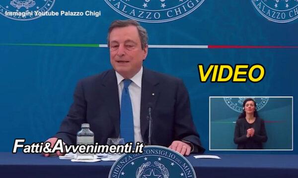 """Vaccini, Draghi: """"Dovremo continuare a vaccinarci per gli anni a venire a causa delle varianti"""" – VIDEO"""