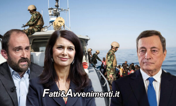 """Draghi a Tripoli: """"Complimenti alla Guardia Costiera libica per  salvataggio migranti"""". Insorgono Boldrini e Orfini"""