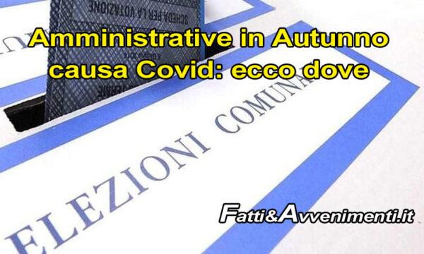 Amministrative Sicilia. Elezioni spostate in autunno per 42 Comuni causa Covid: ecco dove