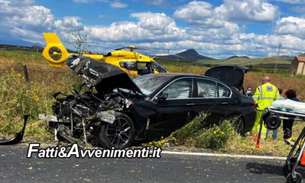 Ramacca (CT). Scontro tra BMW e trattore: muore un 49enne e ferito un 36enne trasportato in elisoccorso