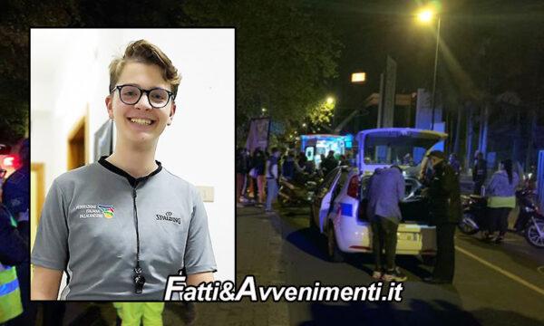 Catania, 17enne perde il controllo dello scooter e si schianta sul cordolo: muore sul colpo