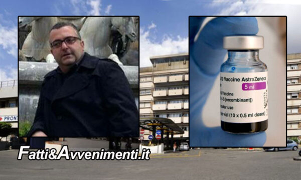 Messina. In fin di vita Avv. 45enne: trombosi dopo 2 settimane dal vaccino AstraZeneca. Aperta inchiesta