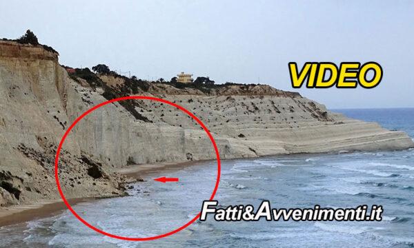 La Scala dei Turchi crolla ancora: una porzione della bianca marma precipita sulla spiaggia