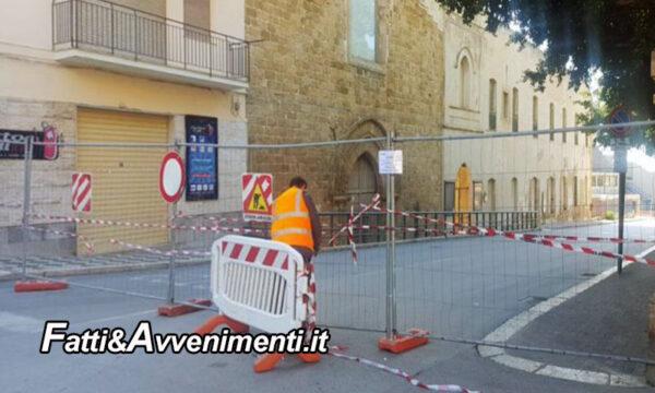 """Sciacca. Monte: """"Via Agatocle non faccia la fine di via D'Aragona, aprite almeno un passaggio pedonale"""""""