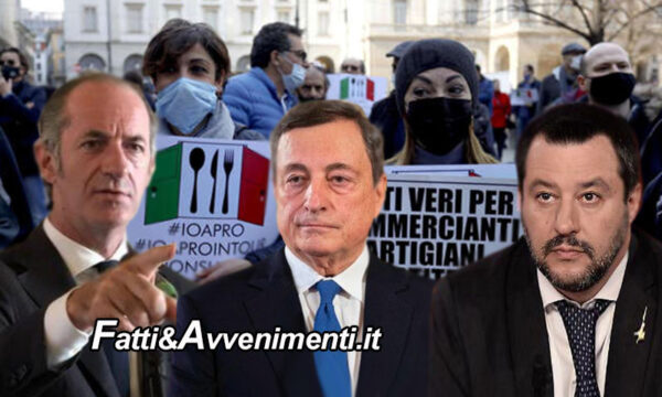 Anche le Regioni come la Lega chiedono il coprifuoco alle 23: Draghi è irritato ma non molla