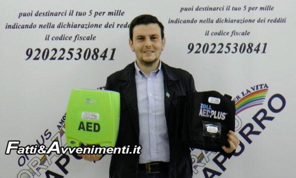 Sciacca. L'Ass. Capurro dona un defibrillatore alla Polizia Municipale: oggi la consegna
