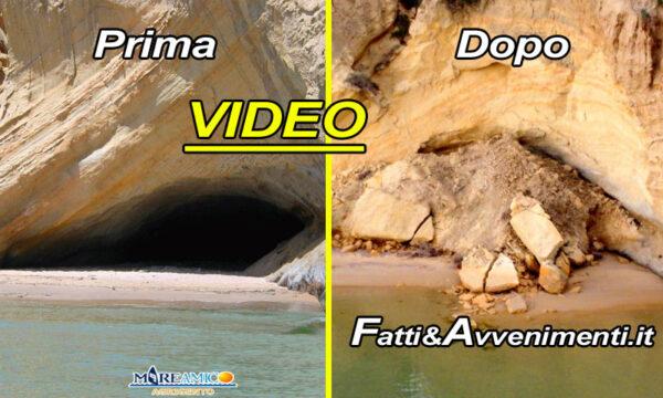 """Realmonte (Ag). Crolla la """"Grotta delle piscine"""", MareAmico: """"Sarebbe potuta essere una strage"""""""