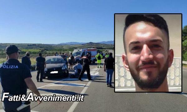 Cattolica Eraclea (Ag). Scontro  moto auto: muore un Carabiniere 25enne, inutili i soccorsi