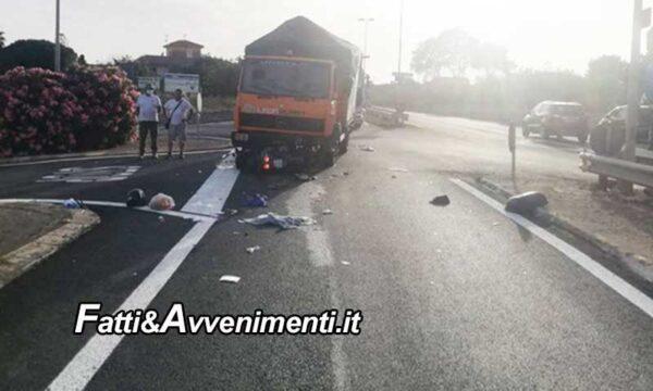 Modica (RG). È morto il 79enne di Scicli travolto da un camion mentre era su uno scooter