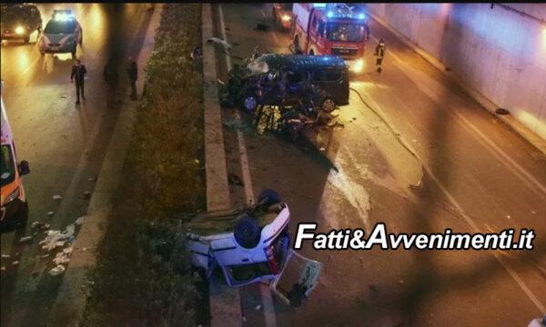 Palermo. Tragico incidente in sottopasso: morta una ragazza 21enne, molti i feriti alcuni gravi