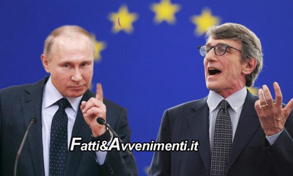 """Putin """"schiaffeggia"""" l'Europa"""": divieto di entrare in Russia per Sassoli e altri 7 funzionari per il caso Navalny"""
