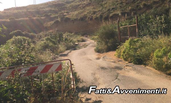 """Ribera, Strada dissestata in zona """"Castello"""". Agricoltori in rivolta: """"Rischiamo la vita, pronti a proteste eclatanti"""""""