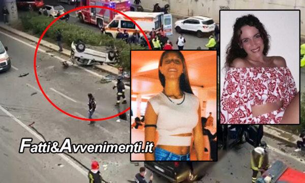 Palermo. Incidente viale Regione siciliana: morta anche l'altra ragazza 20enne sulla Panda, le vittime sono 2
