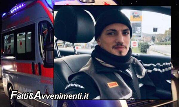 Palermo. Perde il controllo dello scooter e si schianta sull'asfalto: muore un 22enne