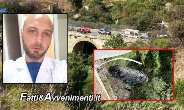 Sciacca. Auto precipita dal Viadotto Bagni: Morto il conducente, inutile intervento elisoccorso