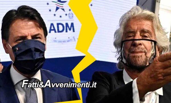 """Grillo rompe con Conte: """"Non ha visione politica, né capacità manageriale. Io l'ho capito, capitelo anche voi"""""""