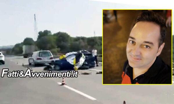 Incidente sulla Siracusa- Catania: camion travolge auto ferma per guasto: muore 40enne, ferite moglie e figlioletta