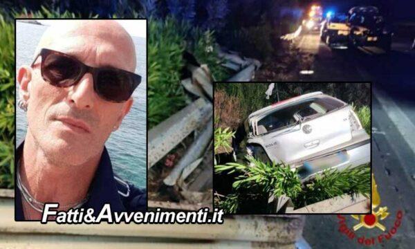 Tragedia sulla Ct-Me, auto con 6 persone si schianta sul guard rail: 2 i morti tra cui un 14enne e 4 feriti