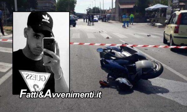 S. Maria di Licodia (CT). Un giovane 20enne su scooter è morto dopo uno scontro con un'auto