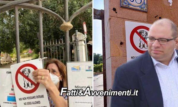 """Sciacca.  Cartelli divieto ingresso cani, Monte: """"il sindaco chiarisca  se gli uffici comunali sono coinvolti"""""""
