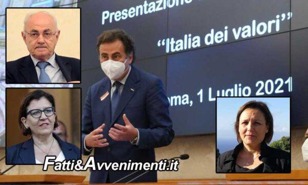 Italia dei Valori torna in parlamento, tra le adesioni gli ex 5stelle Elisabetta Trenta, Elio Lannutti e Piera Aiello