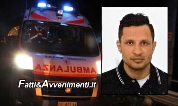 Messina. Si schianta con la moto contro un muro: 35enne perde la vita. Lascia moglie e 2 figli piccoli