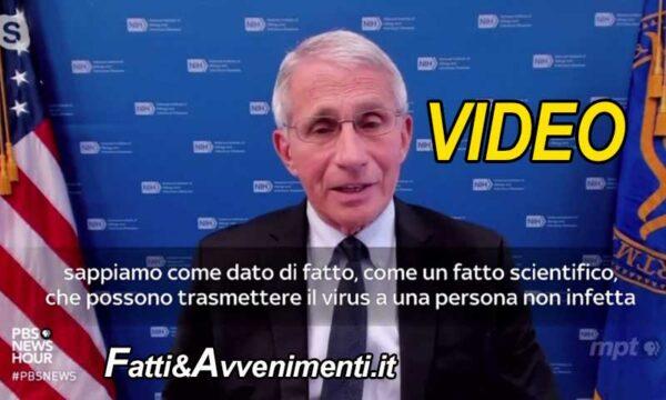"""Il virologo Fauci: con la variante Delta """"Stesso livello virus in positivi vaccinati e non vaccinati"""""""