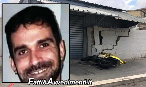 Trapani. Si schianta con la moto contro un muro: muore un 37enne, gravemente ferito il passeggero