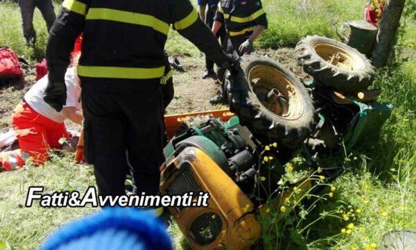 Caronia (ME). Cede la pompa di sollevamento e un 58Enne muore schiacciato sotto il trattore