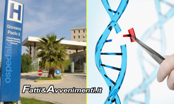 Ospedale di Sciacca (Ag). Terzo caso in Italia di trattamento editing genetico contro talassemia