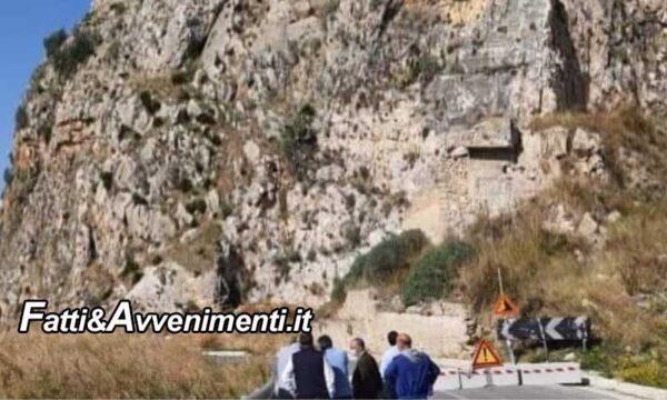 """SP 37 Sciacca-Caltabellotta. Arrivano 900.000 euro per messa in sicurezza  rocca """"Porcaria"""" e riaprire la strada a doppio senso"""