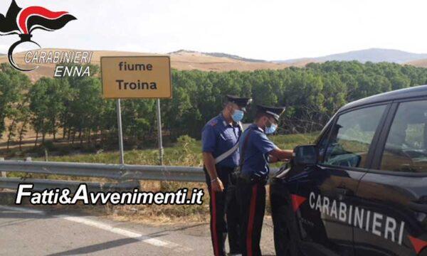 Troina (EN). Arrestati 2 piromani beccati dai carabinieri mentre appiccavano il fuoco in un bosco