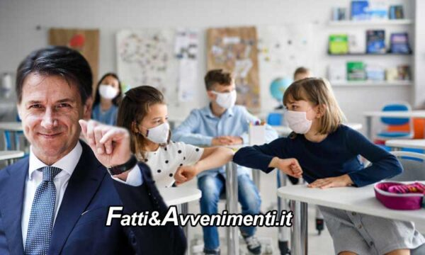 """Tar Lazio: """"illegittimi dpcm Conte"""", no a obbligo mascherine a scuola per under 12. Tutti possono chiedere i danni"""