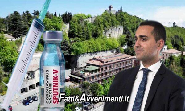 Di Maio: i Sanmarinesi vaccinati con Sputnik per entrare in Italia dovranno fare la 3° dose con Pfizer