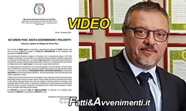 """Conestà, segretario Sindacato Polizia Mosap contro il green pass: """"discriminatorio anticostituzionale e assurdo"""""""