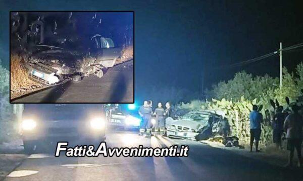 Acate (RG). Scontro tra due auto nella notte: perde la vita un 28enne che oggi doveva sposarsi e 5 feriti