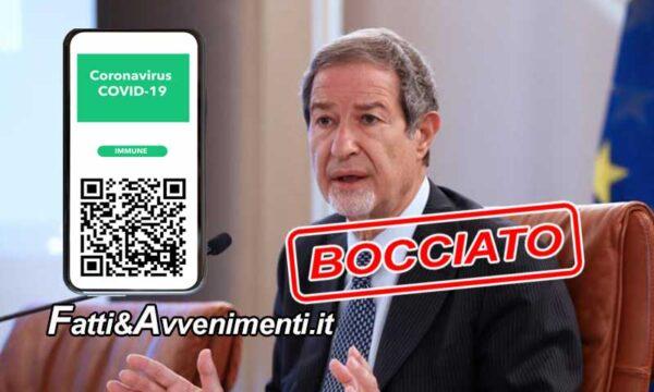 Garante boccia ordinanza di Musumeci sul Green pass negli uffici pubblici: valida solo la norma nazionale