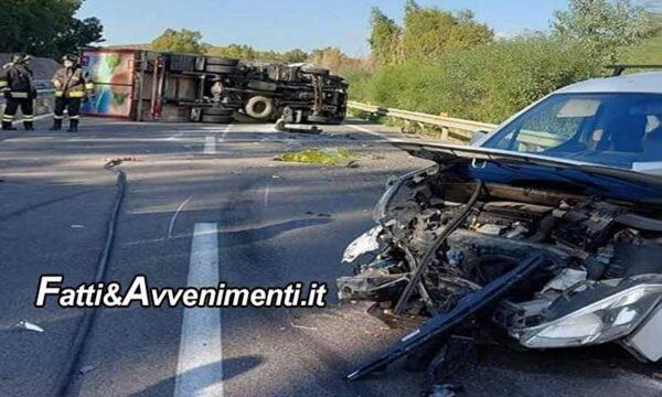 Incidente sulla A29, un camion travolge un auto ferma e il conducente che era sceso, morto sul colpo