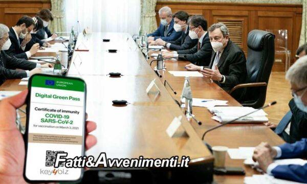 Green pass: Ok unanime del governo all'obbligo sul posto di lavoro. Siamo l'unico paese in Europa ad adottarlo