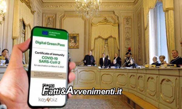 Giuristi siciliani presentano ddl per ricorsi diretti alla Corte Costituzionale su Green pass