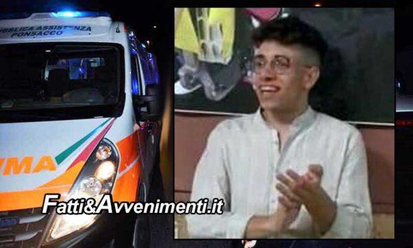 Lucca Sicula (AG). Auto precipita in un burrone: muore un 18enne, tre i feriti, uno è gravissimo