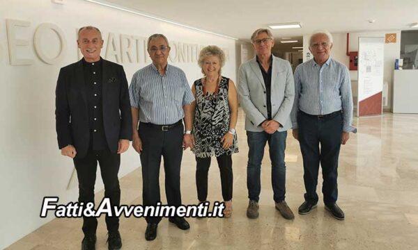 Gibellina. Tijani Haddad, presidente internazionale Fijet in visita al Museo delle Trame Mediterranee