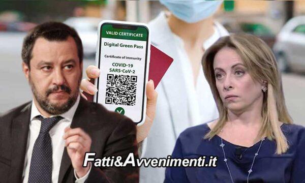 """Voto sul Green pass, la Lega ritira emendamenti, Salvini """"pronti a votare quelli di Fratelli d'Italia"""""""