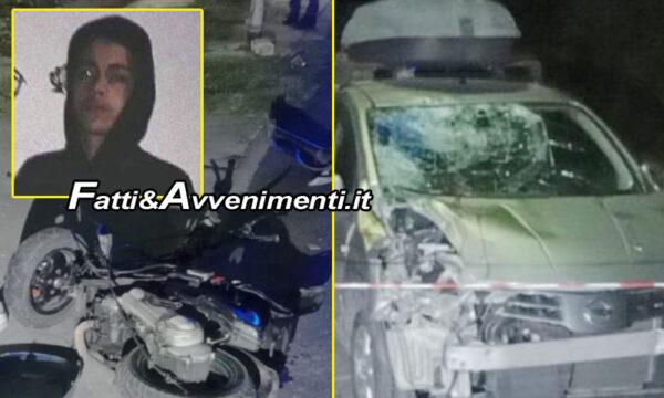 Palermo. Incidente tra auto e scooter: Morto in ospedale ragazzo di 17 anni