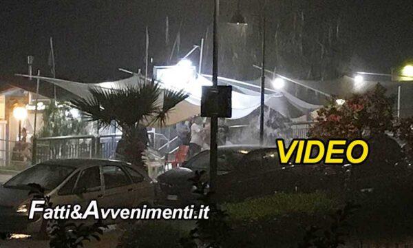 Ribera. Bomba d'acqua a Secca Grande poco prima della mezzanotte: strade trasformate in piscine – VIDEO