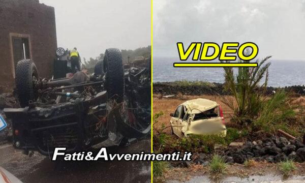 Pantelleria. Tromba d'aria si abbatte sull'isola: auto volate in aria, due morti e nove feriti, quattro gravi