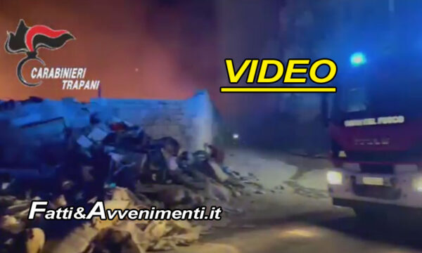Castelvetrano. A fuoco baraccopoli con 350 migranti all'interno dell'ex cementificio: un morto