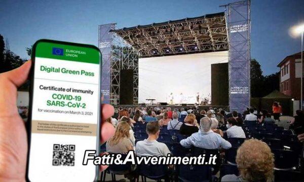 Da lunedi nuove misure anti covid: cinema, teatri e altri luoghi di cultura la capienza passa al 100% ma con green pass