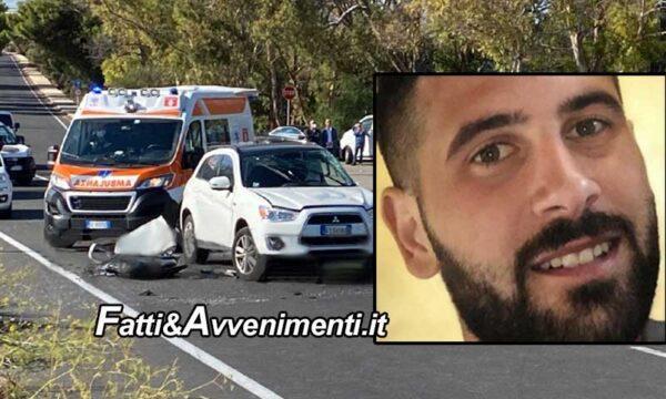 Pozzallo. Incidente auto contro moto: morto centauro 26enne, grave una donna
